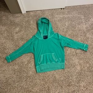 Green Women's American Eagle hoodie, size small